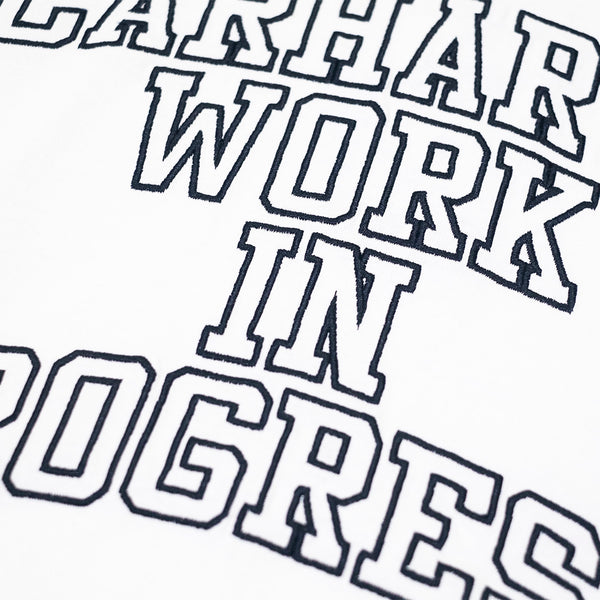 CARHARTT WIP CREWNECK DIVISION EMBROIDERY - WHITE