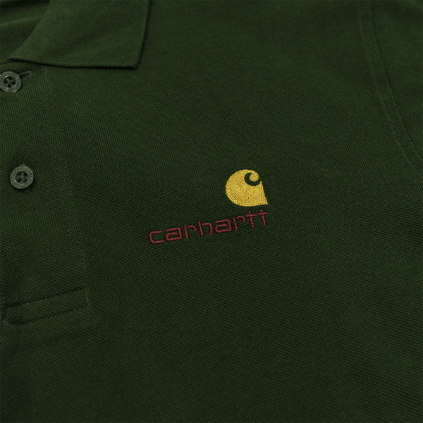 CARHARTT WIP POLO SHIRT - OLIVE