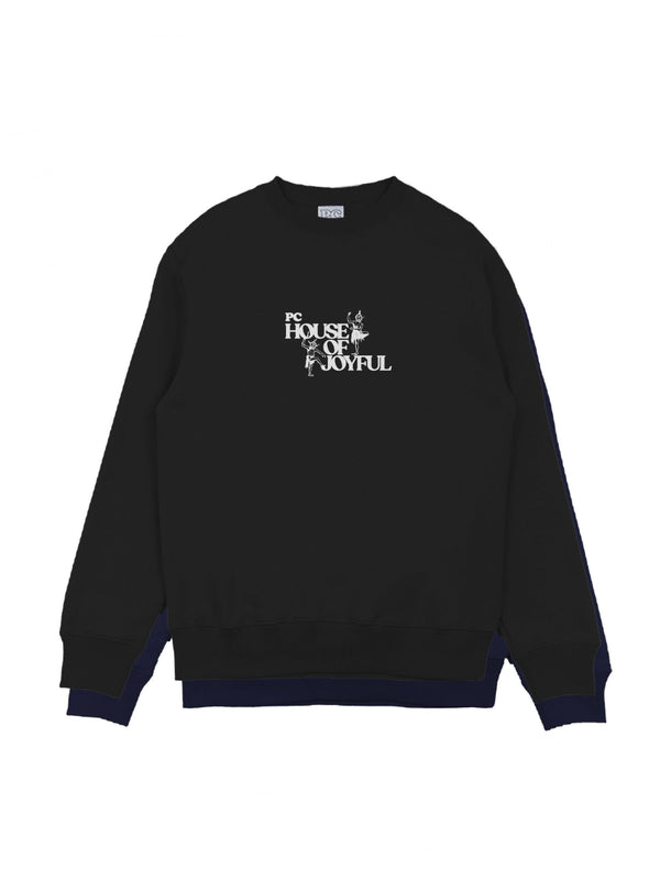 PC HOUSE OF JOYFUL CREWNECK - BLACK