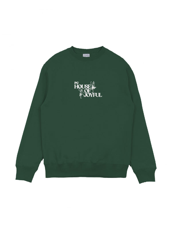 PC HOUSE OF JOYFUL CREWNECK - GREEN