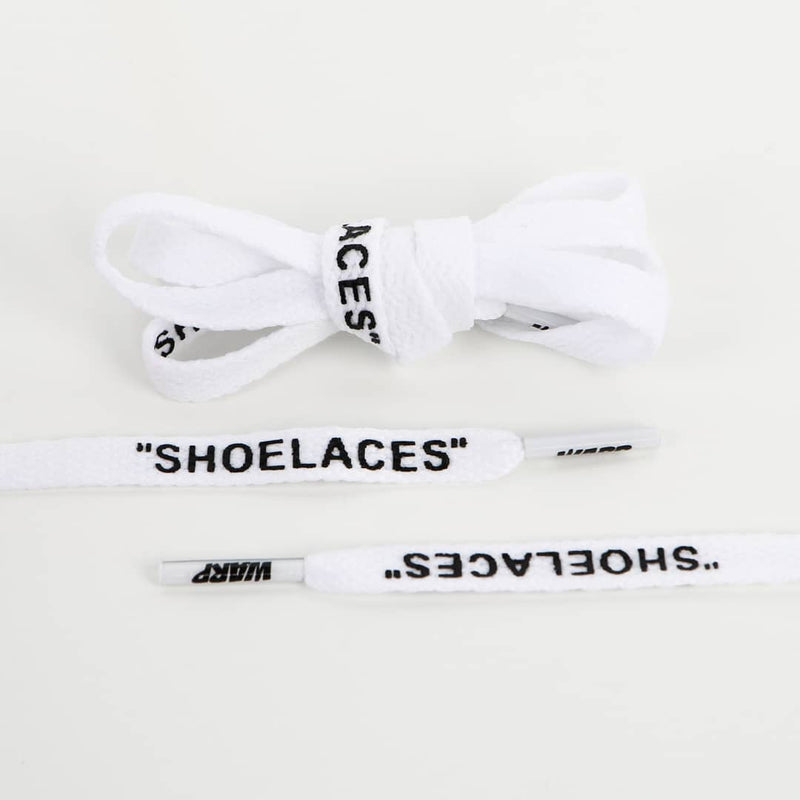 Warplaces shoe laces white flat