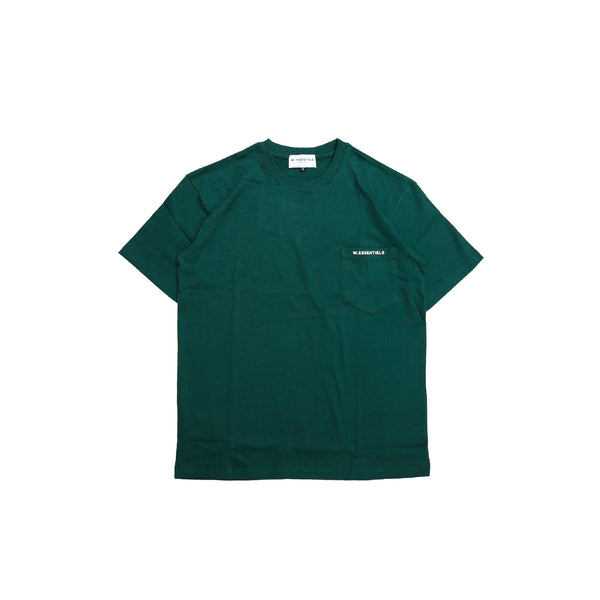 W.Essentiels Chest Logo Tee Forest FW20 Collection