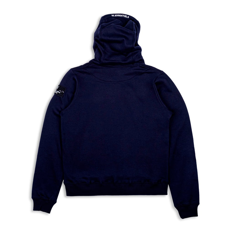 W.Essentiels hoodie triple navy - Folk Store