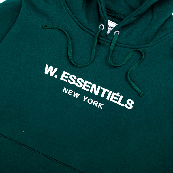 W.Essentiels hoodie forest green - Folk Store