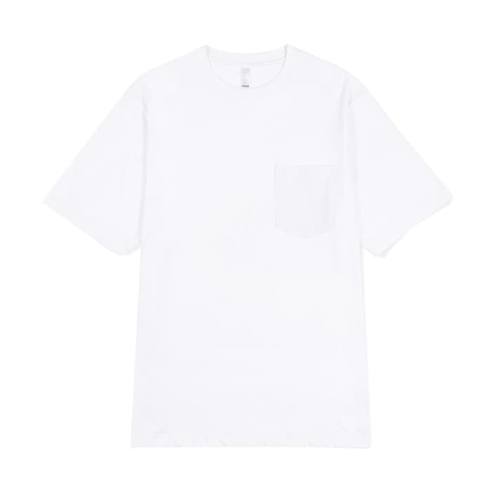 PRIME HEAVY WEIGHT POCKET TEE - WHITE