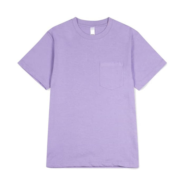 Prime pocket tee purple