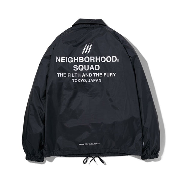 NEIGHBORHOOD THE FILTH AND THE FURY COACH JACKET - BLACK