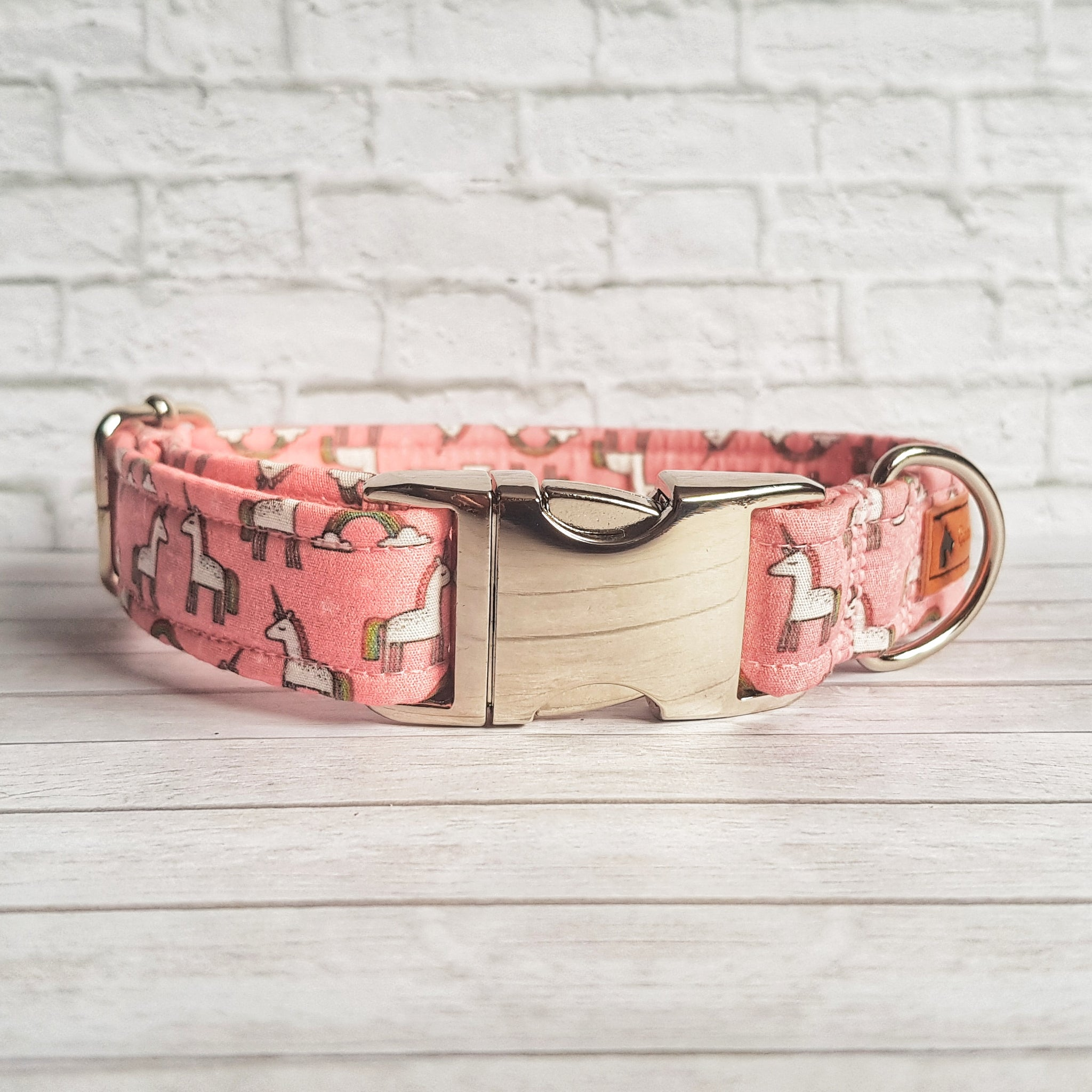 Pink Unicorn Dog Collar