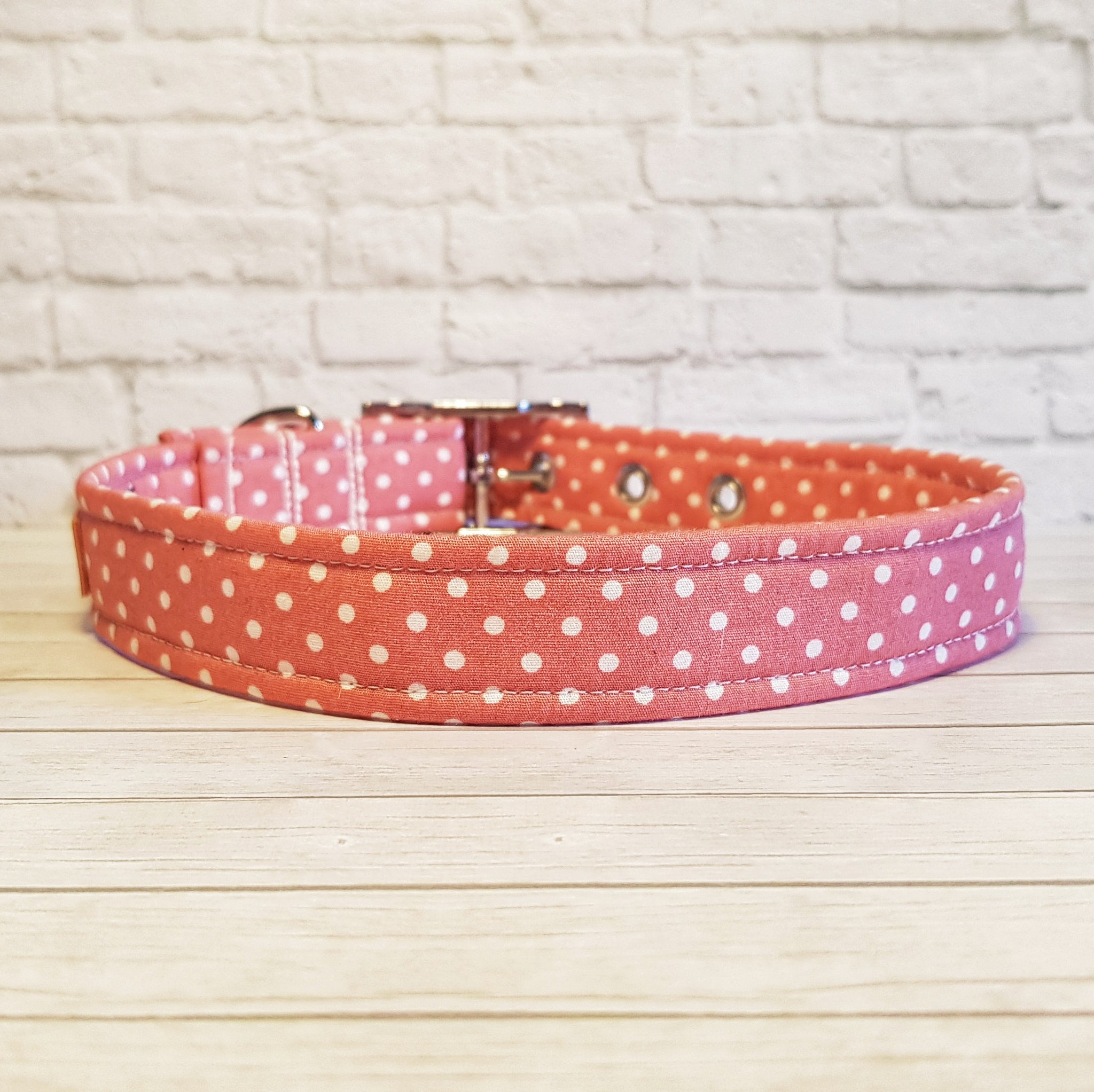 Rose Polka Dot Dog Collar