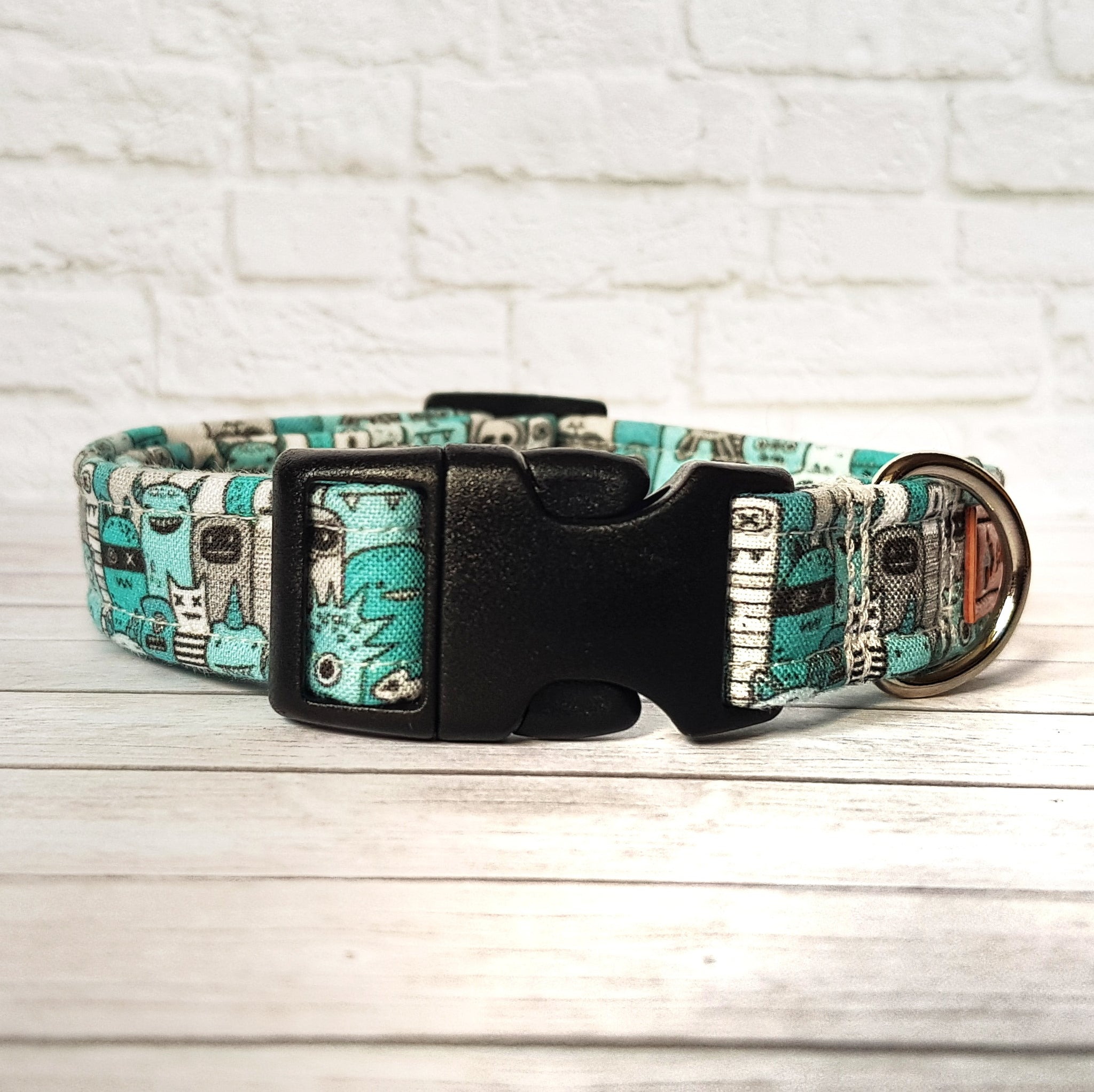 Blue Monster Dog Collar