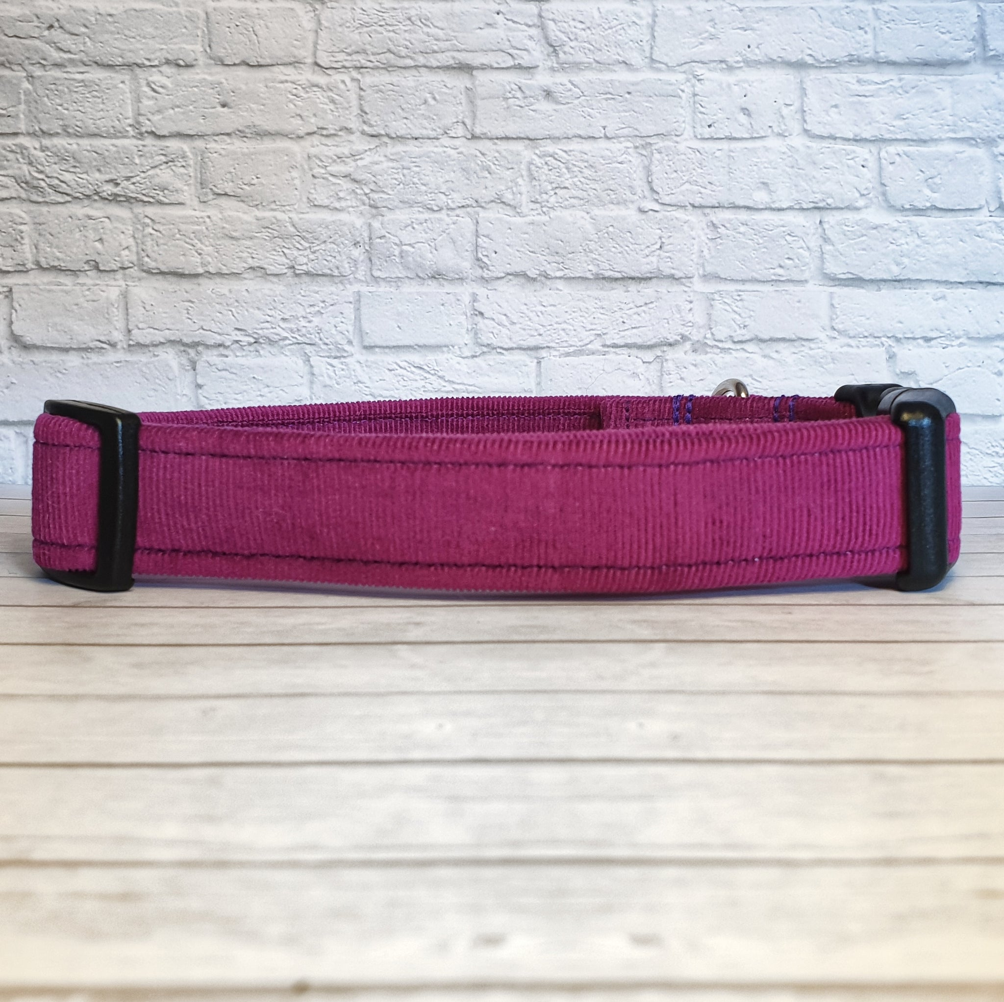 Purple Corduroy Dog Collar