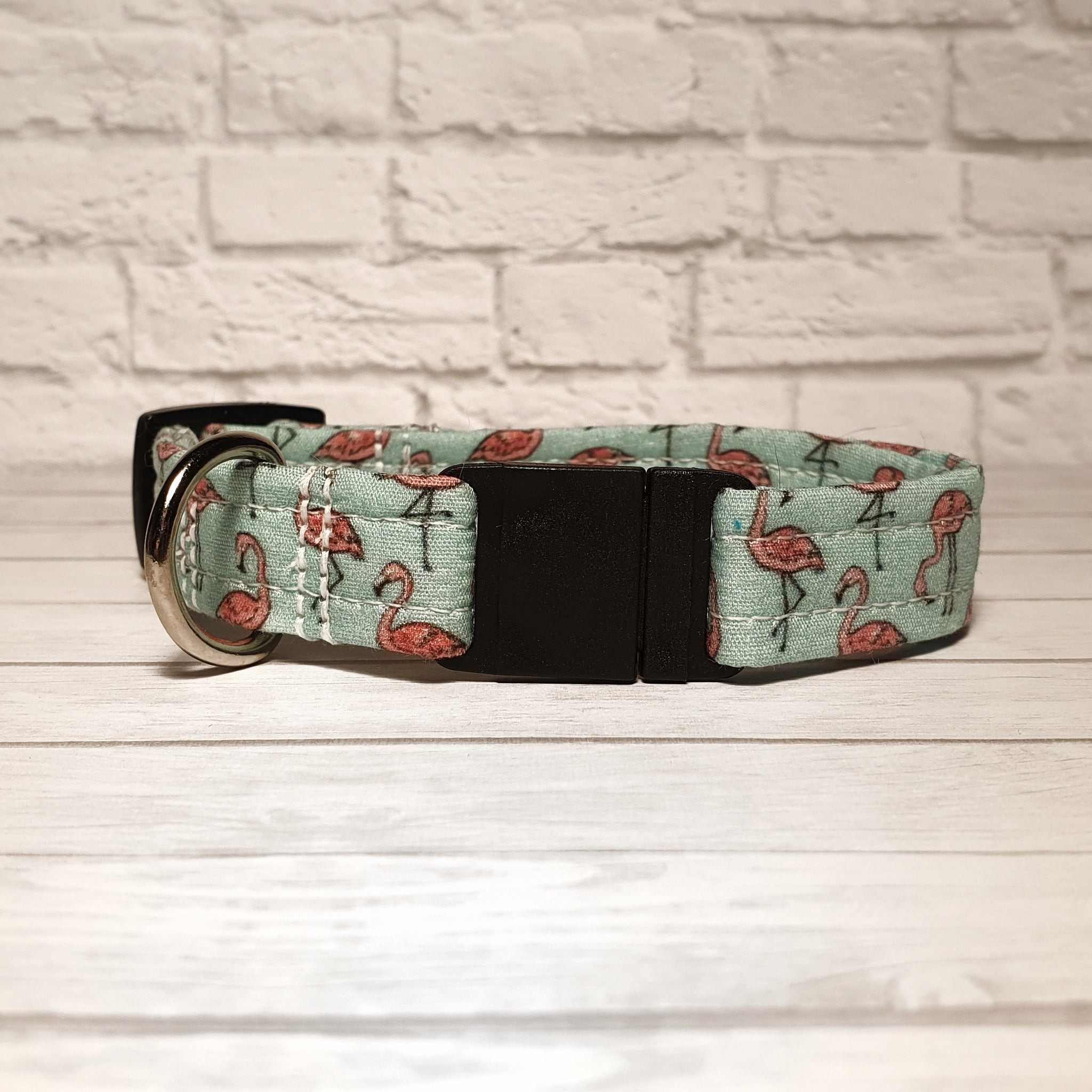 Mint Flamingo Cat Collar