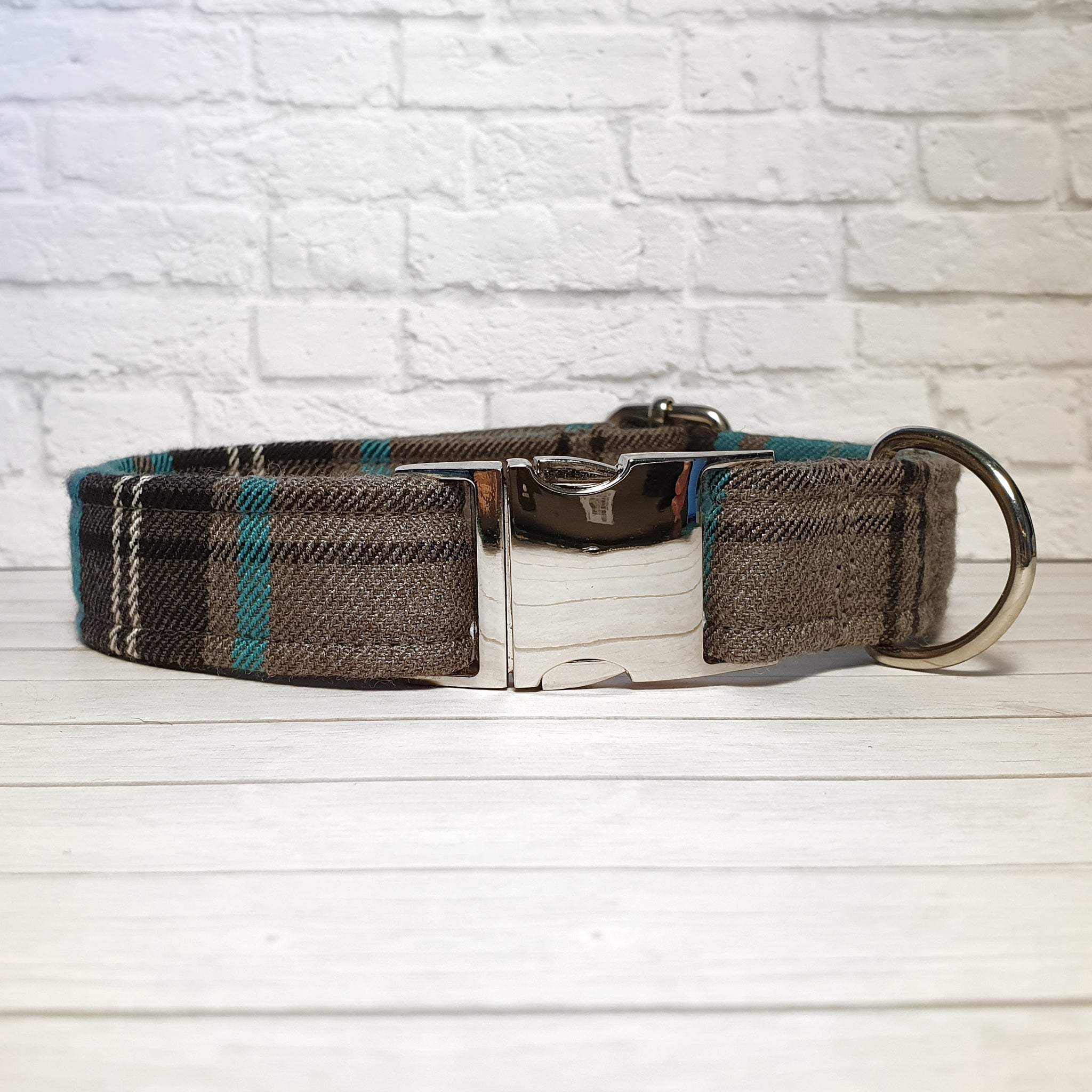 Blue and Grey Dog Collar