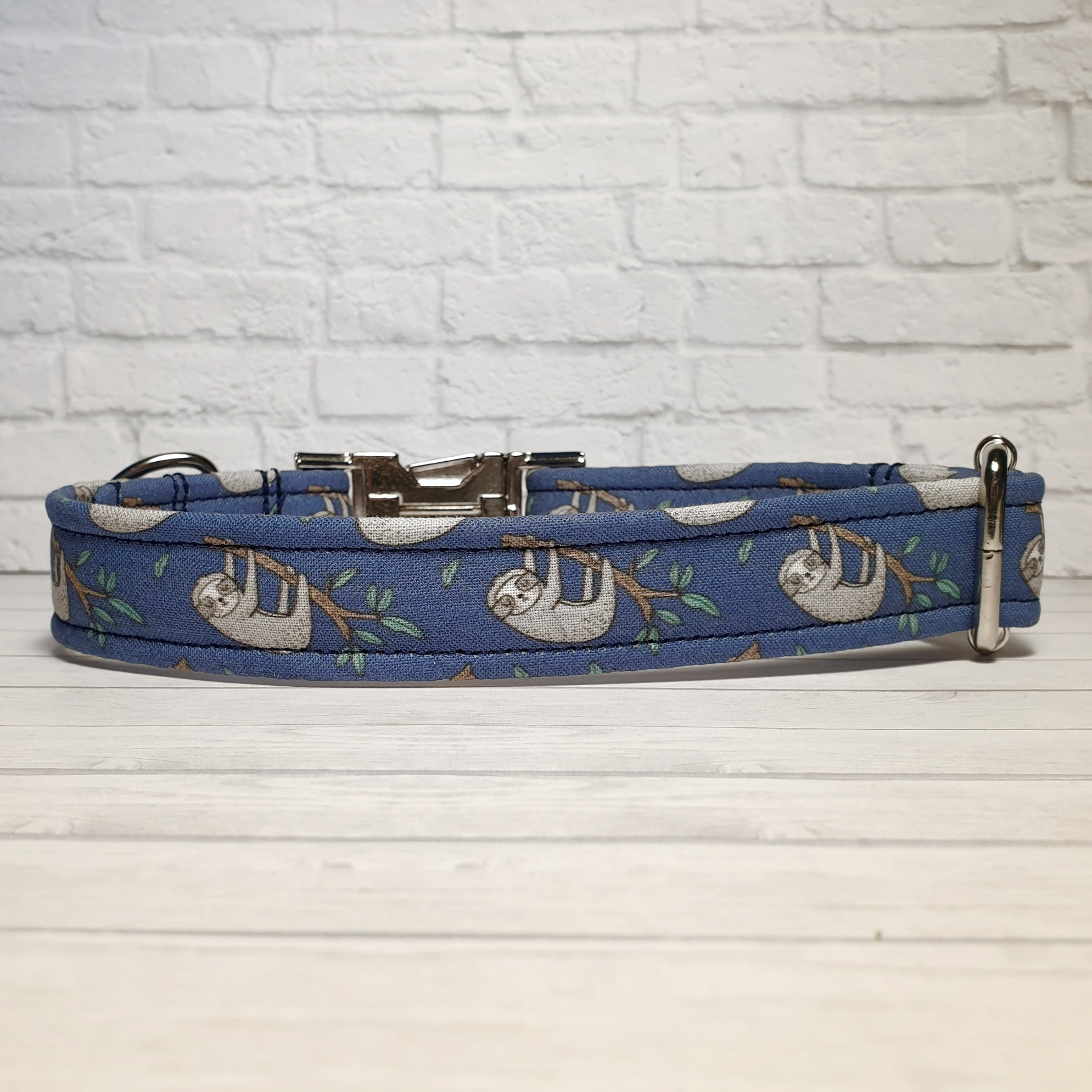 Blue Sloth Dog Collar
