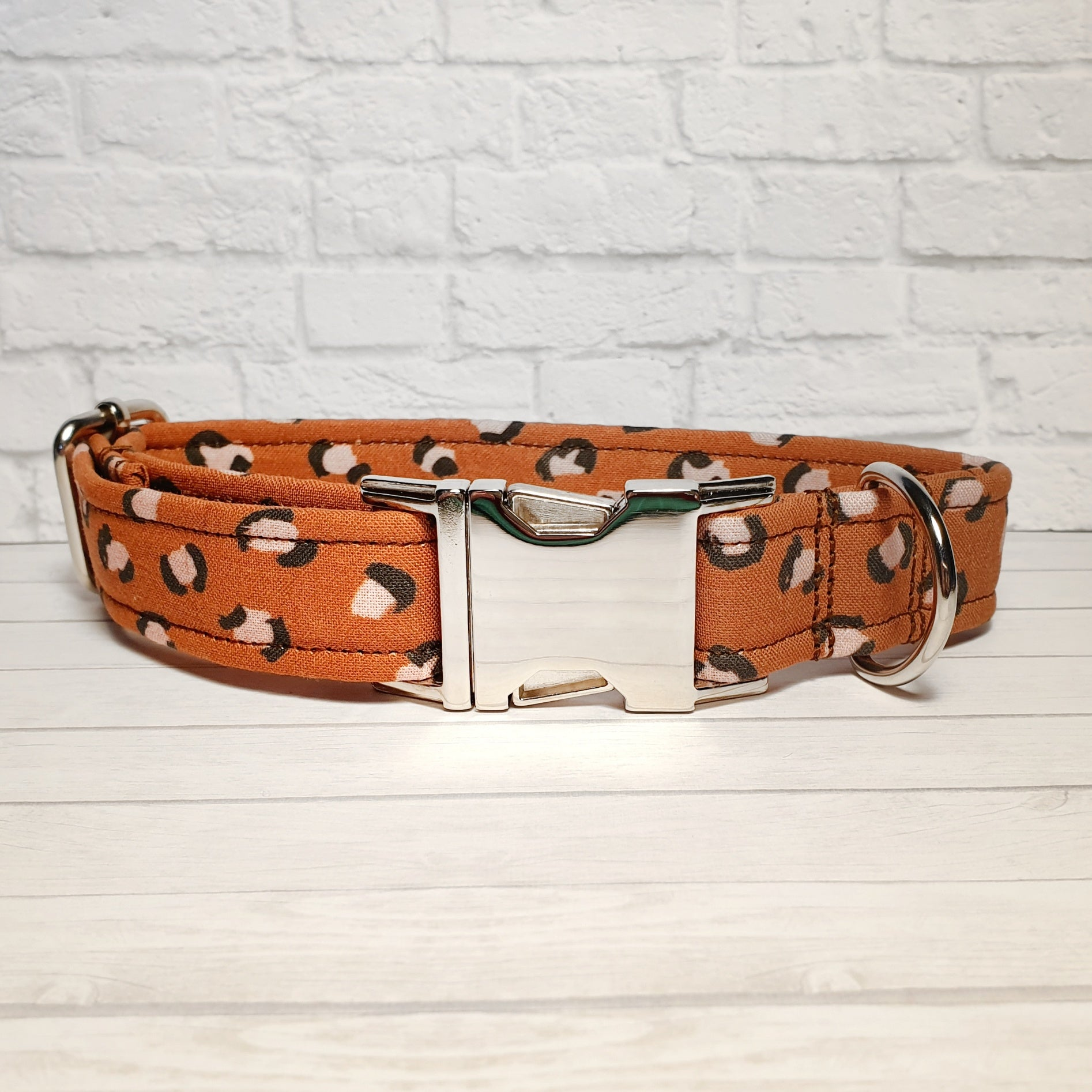 Brown Leopard Print Dog Collar