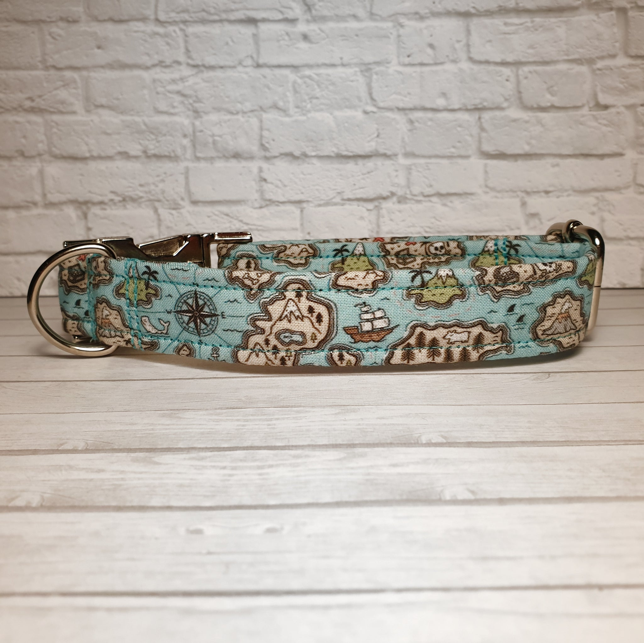 Treasure Map Dog Collar