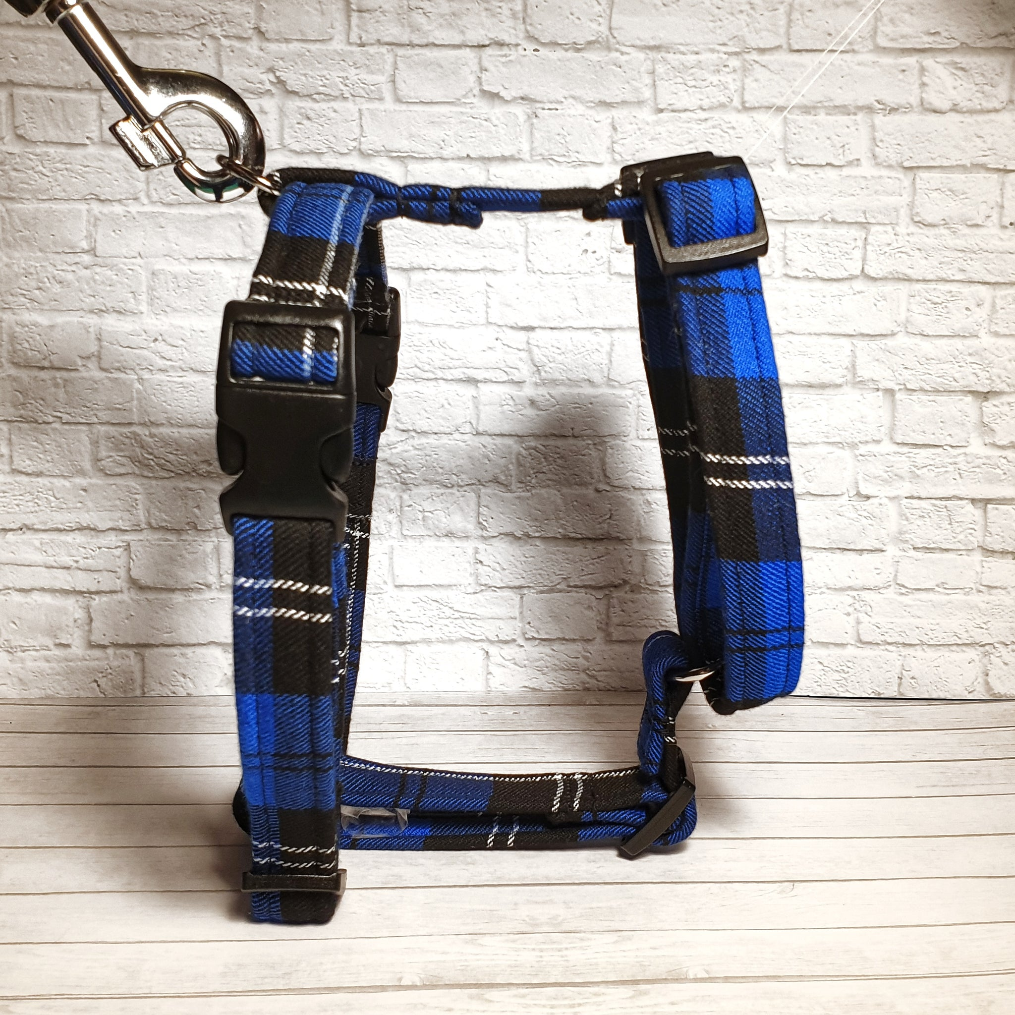 Royal Blue Tartan Y Front Harness