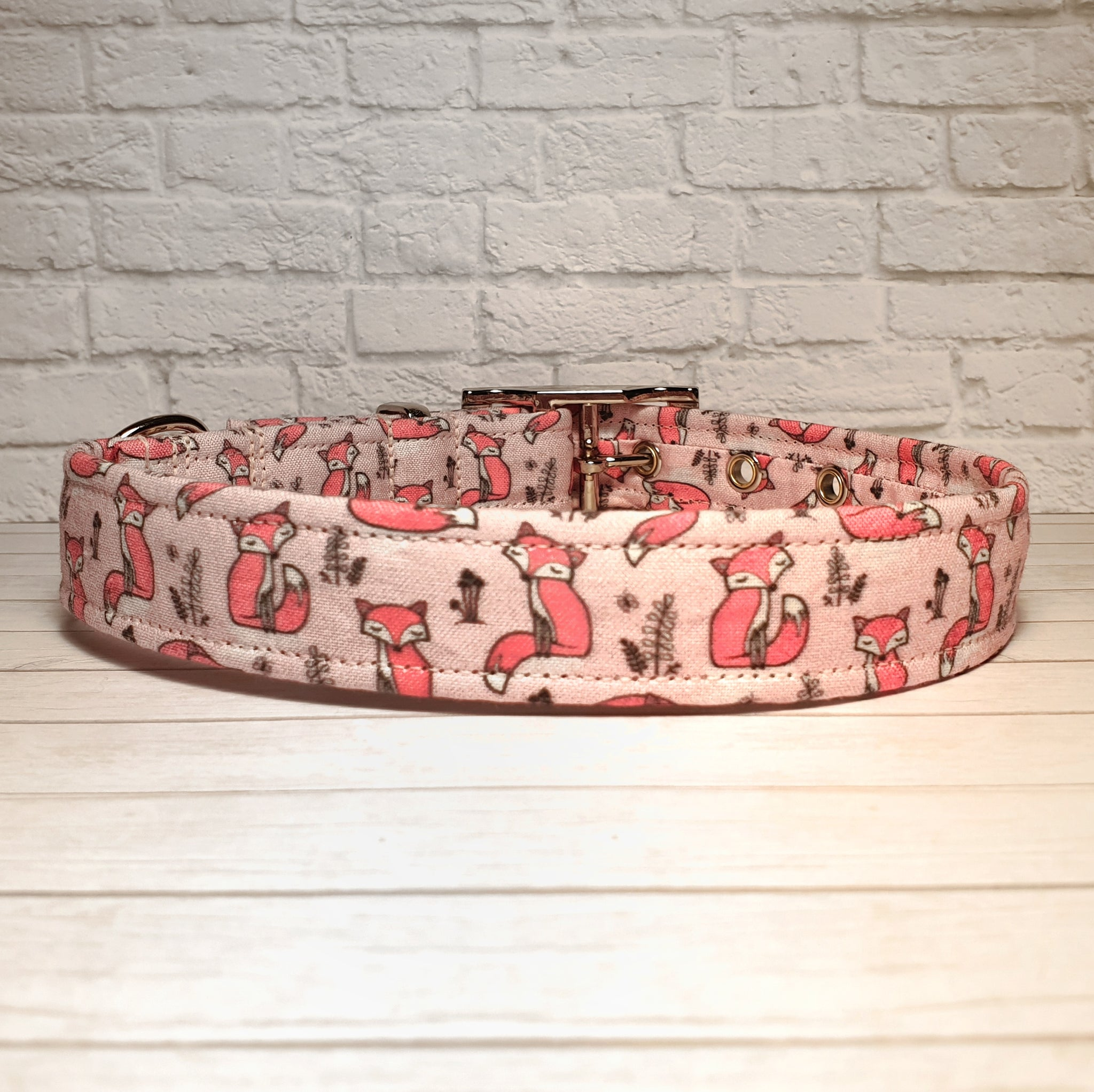 Pink Fox Dog Collar