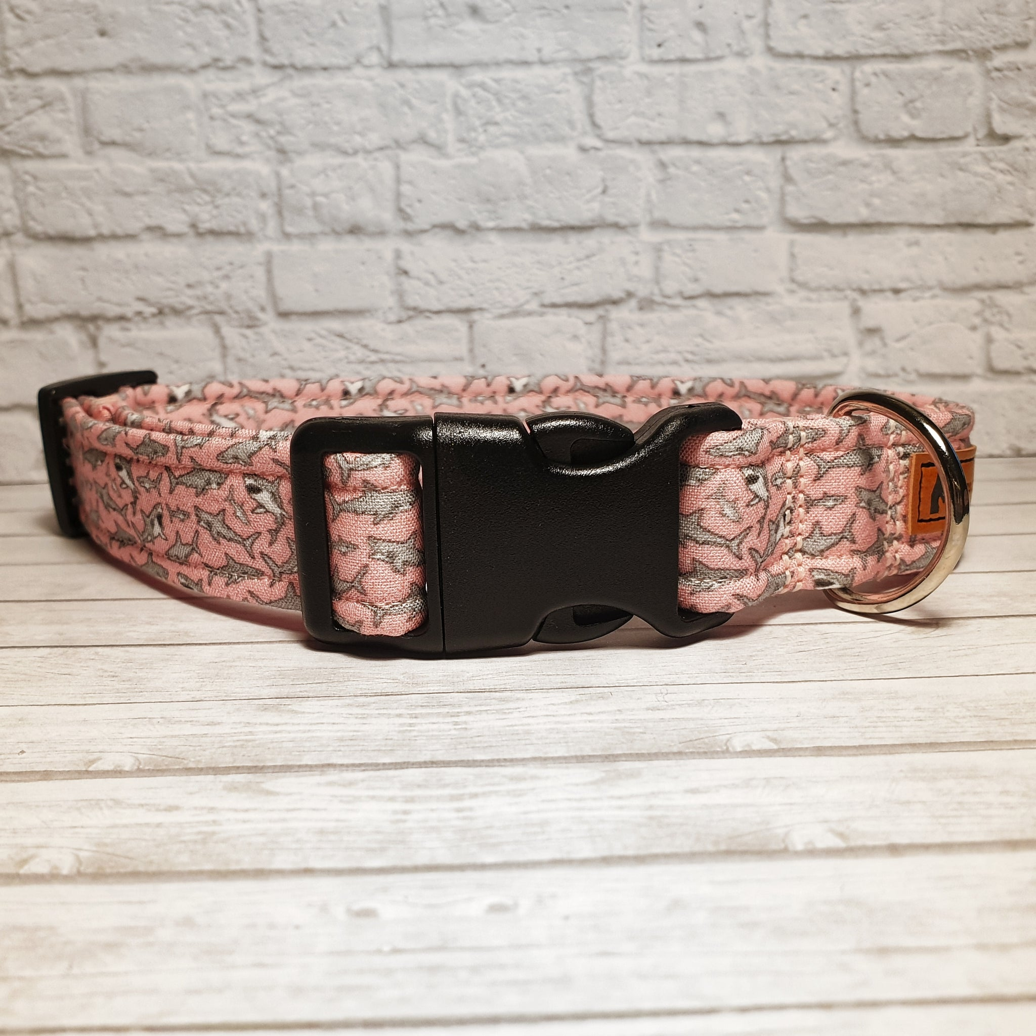 Pink Shark Dog Collar