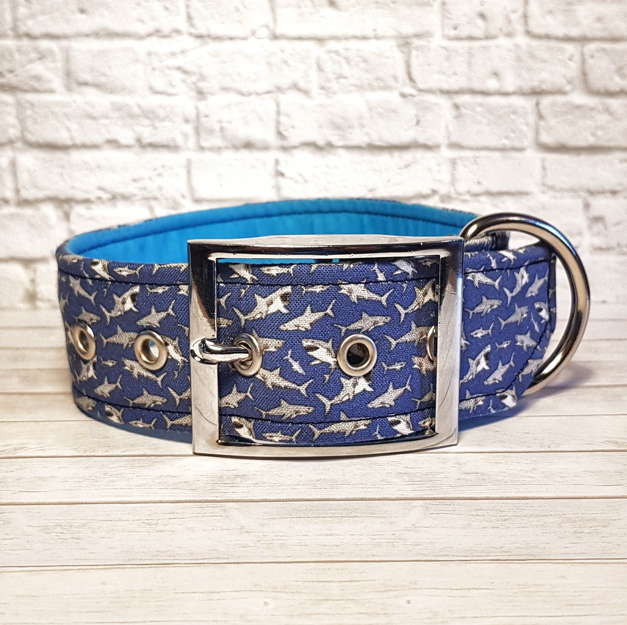Blue Shark Dog Collar