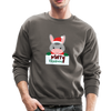 Cute Donkey Christmas Sweatshirt - asphalt gray