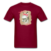 Cute Donkey T-Shirt - Donkeys Make Me Smile - burgundy