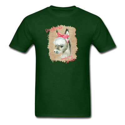 Cute Donkey T-Shirt - Donkeys Make Me Smile - forest green