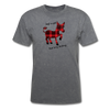 Buffalo Plaid Donkey Shirt - Just A Girl That Loves Donkeys - mineral charcoal gray
