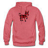 Buffalo Plaid Donkey Hoodie - heather red