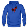 Buffalo Plaid Donkey Hoodie - royal blue