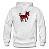 Buffalo Plaid Donkey Hoodie - light heather gray