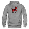 Buffalo Plaid Donkey Hoodie - graphite heather
