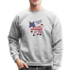 Vintage Flag Donkey Sweatshirt - American Donkey - heather gray
