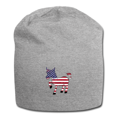 Vintage Flag Donkey Jersey Beanie - heather gray
