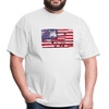 American Flag with Donkey T-Shirt - white