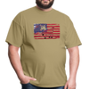 American Flag with Donkey T-Shirt - khaki