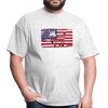 American Flag with Donkey T-Shirt - light heather gray