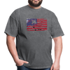 American Flag with Donkey T-Shirt - mineral charcoal gray
