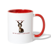 My Ears Are Big But My Heart Is Bigger Coffee Mug - white/red
