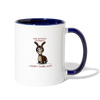 Life Without Donkeys I Don't Think So Coffee Mug - white/cobalt blue