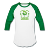 St Patrick's Day Donkey Mom Raglan T-Shirt - white/kelly green
