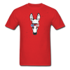 Patriotic Donkey T-shirt with Cool Stars & Stripes Sunglasses - red