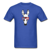 Patriotic Donkey T-shirt with Cool Stars & Stripes Sunglasses - royal blue