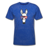 Patriotic Donkey T-shirt with Cool Stars & Stripes Sunglasses - mineral royal