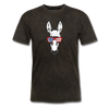 Patriotic Donkey T-shirt with Cool Stars & Stripes Sunglasses - mineral black
