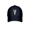 Donkey Baseball Cap - Donkey Wearing A Floral Wreath - navy
