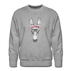 Floral Donkey Sweatshirt - heather gray