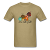 Cute It's Fall Y'all Donkey & Pumpkin T-Shirt - khaki