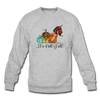 Cute It's Fall Y'all Donkey & Pumpkin Sweatshirt - heather gray