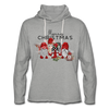 Cute Christmas Gnome & Donkey Lightweight Terry Hoodie - heather gray